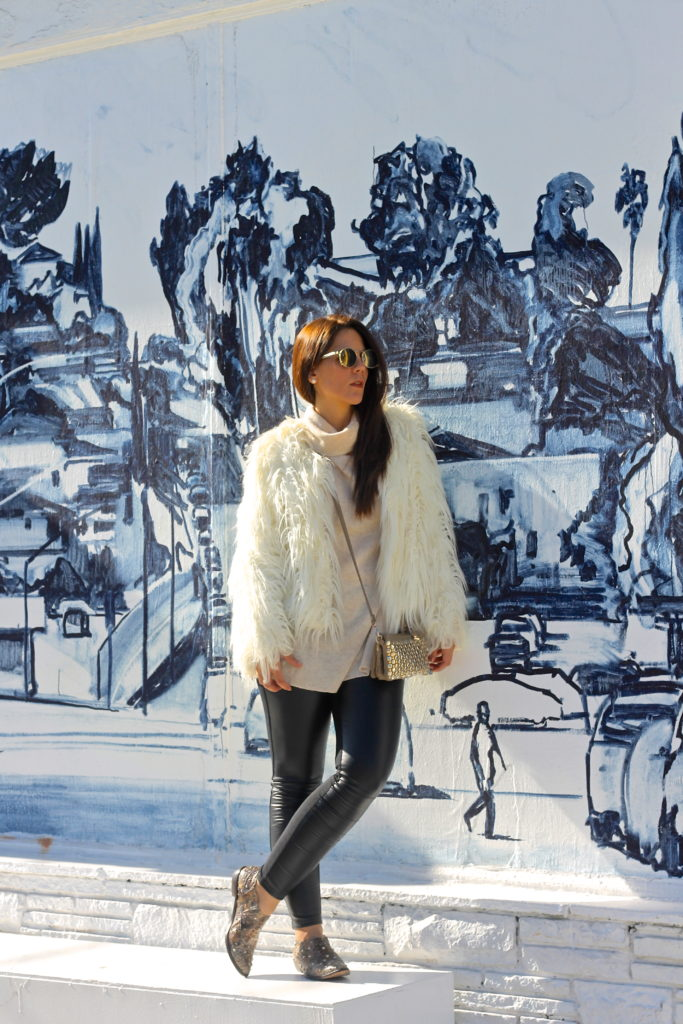 How to wear Sport – Chic-Edgy Outfit with a Faux Fur Jacket